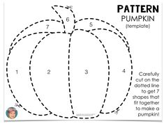 This fun, easy and totally free pattern pumpkin project is great for use in your classroom or at home. The template for the pumpkin project is included. Pumpkin Art, Pumpkin Crafts, Pumpkin Drawing, Printable Pumpkin Patterns, Free Pumpkin Patterns, Applique Patterns, Applique Templates Free, Owl Templates, Applique Tutorial