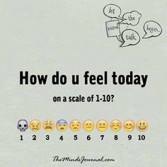 How do you feel today -  - http://themindsjournal.com/how-do-you-feel-today/