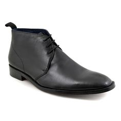 Shop black chukka boots for men. Leather sole and sublime leather, these chukka boots will work dressed up or down. Free delivery. No quibble returns.