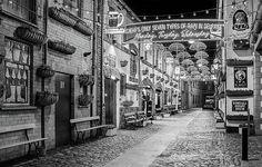 Umbrella Street In Belfast - Black And White by Barry O Carroll - Umbrella Street In Belfast – Black And White Print by Barry O Carroll - County Cork Ireland, Galway Ireland, Ireland Vacation, Ireland Travel, Umbrella Street, Ireland Landscape, Nightlife Travel, Paris Travel, Belfast