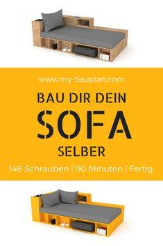 DIY Sofa Selber Bauen! Kann Easy Mit Individuellen Holz Platten Selber  Gebaut Werden. 146 Schrauben   90 Minuten   Fertig. Ohne Sägen! Ohne Bohren!