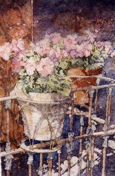 Sunbathing Batik on Rice Paper / Kathie George Gallery - would love this hanging in my home