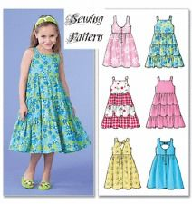 Very Easy Girls Dress Pattern | ... 4817 Girls' Dresses in 6 Designs Very Versatile Sewing Pattern