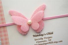 Felt Butterfly Headband Butterfly Headband by MyMondaysChild, $6.95