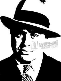 Download your free Al Capone Stencil here. Save time and start your project in minutes. Get printable stencils for art and designs.