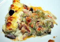 Receitas -Empadão de Carne, com Juliana de Legumes e Béchamel- Roteiro Gastronómico de Portugal