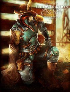 Wild West Boba Fett by Facu Samman