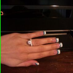 Love my new Turquoise nails and of course my ring =)