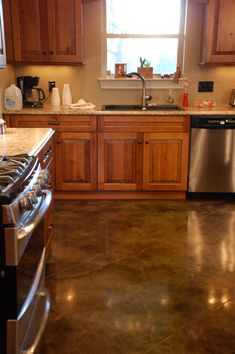 Photo Gallery - Acid stained concrete, dye stained concrete, concrete scoring and concrete resurfacing by Classic Stained Concrete in South Central Texas