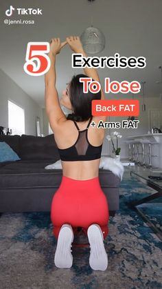Full Body Gym Workout, Back Fat Workout, Slim Waist Workout, Gym Workout Videos, Gym Workout For Beginners, Fitness Workout For Women, Butt Workout, At Home Workouts, Fitness Tips