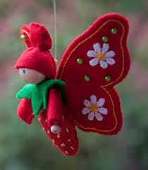 Little red felt fairy.