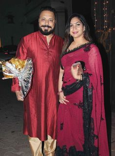 Bunty Walia and wife Vanessa Parmar at Shilpa Shetty and Raj Kundra's #Diwali bash. #Bollywood #Fashion #Style #Beauty #Hot #Desi #WAGS #Saree