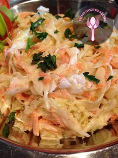Amerikai káposztasaláta alias Coleslaw | | Sylvia Gasztro Angyal Coleslaw, Cabbage, Vegetables, Food, Recipes, Coleslaw Salad, Vegetable Recipes, Eten, Veggie Food