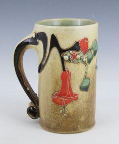 Trumpet Vine Mug   Carol Long Pottery