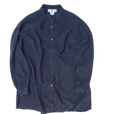 ビンテージ スタンドカラーシルクシャツ【SILK】VINTAGE STAND COLLAR SHIRT - RUMHOLE beruf online store
