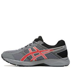 ASICS Men's Gel-Contend 4 Running Shoes (Grey/Black/Red)