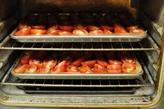 Slow roasted Roma tomatoes... So delicious.  Tastes better than sun dried.