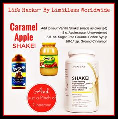 Caramel Apple Protein Shake! Mix it up...have fun on your weight loss journey!