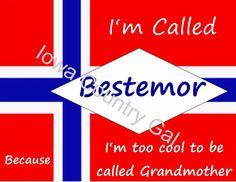 BESTEMOR  NORWEGIAN VIKING COOL GRANDMOTHER LAMINATED SIGN / WALL HANGING 11x8.5