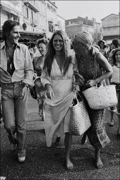 Brigitte Bardot in  St Tropez, 1972.