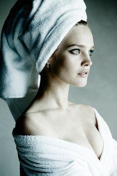 "Natalia Vodianova for Mario Testino's ""Towel Series"""