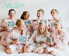 FREE ROBE Set of 7+ Personalized Pink Floral Satin Robes | Embroidered | Monogrammed | Bridesmaid's Gifts for Weddings | Rush Welcome