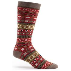 4f0561e9bf0ea Mens Swedish style Fairisle socks in red superiorclogs.com Mens Novelty  Socks