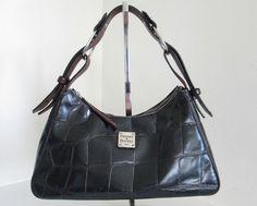 Dooney & Bourke Brown Leather Croc Embossed Shoulder Bag Purse | Clothing, Shoes & Accessories, Women's Handbags & Bags, Handbags & Purses | eBay!