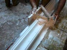 Traînage d'un socle en platre moule et epreuve en systeme acrylique.mp4 - YouTube