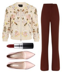 """""""For the Office"""" by doorknobsnazzy ❤ liked on Polyvore featuring Needle & Thread, Related, MAC Cosmetics, women's clothing, women, female, woman, misses and juniors"""