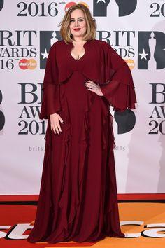 Adele in a custom-made Giambattista Valli gown with David Morris jewelry.