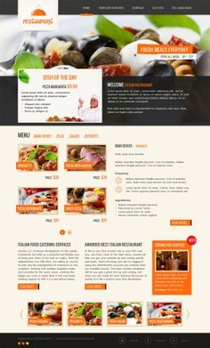 JM-Italian-Restaurant, orange template version.