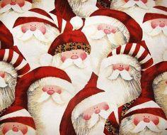 HO HO HO  JOLLY SANTA LEOPARD HATS ZULAF CHRISTMAS FABRIC