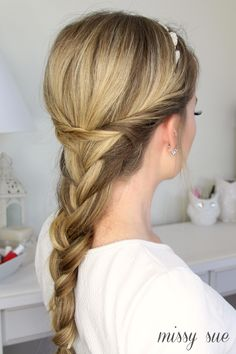 Embellished French Braid with Twists Girl Hair Dos, Braided Hairstyles, Hairstyle Ideas, Braid, Women's