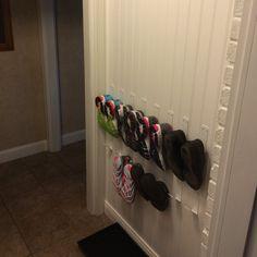 Crew Wall Hooks in Colors - Modern Coat Racks & Wall Hooks - Modern Office Furniture - Room & Board Shoe Storage Small, Closet Shoe Storage, Storage Spaces, Shoe Storage Ideas For Small Spaces, Shoe Storage Solutions, Entryway Shoe Storage, Wall Shoe Rack, Wall Hooks, Shoe Racks