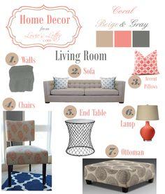 Home Decor: Coral Beige  #LivingRoom #LoviesLetter