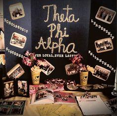 table terrific ~ A my breezeway table! Alpha Epsilon Phi, Phi Sigma Sigma, Pi Beta Phi, Alpha Sigma Alpha, Alpha Chi Omega, Phi Mu, Kappa Delta, Theta, Sorority Sugar