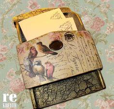 A REPEDŐPASZTÁS ON-LINE FOGLALKOZÁSON KÉSZÜLTEK ~ Dekupázs, dekoráció, DIY… Decoupage, Decorative Boxes, Cover, Blog, Diy, Vintage, Google, Home Decor, Wood