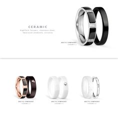 Ceramic rings; Arctic Symphony Collection; BERING jewellery; Twist & Change System