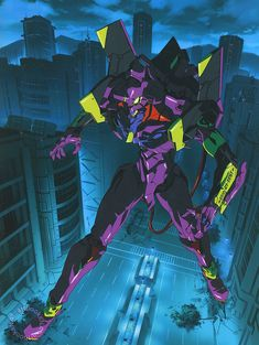 Promotional and packaging art work for the Nintendo 64 Neon Genesis Evangelion game that came out in 1999, illustrated by Yoh Yoshinari.