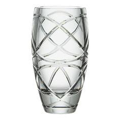 Carlisle Vase, crate and barrel, usa Kris Jenner House, Crate And Barrel Registry, Shot Glass, Glass Vase, High End Kitchens, Bright Flowers, Cut Flowers, Red And Teal, Crystal Vase