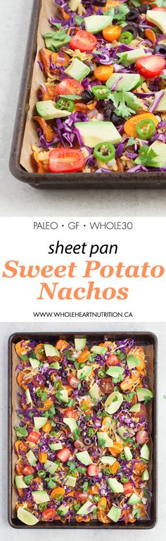 Sheet Pan Sweet Potato Nachos - Wholeheart Nutrition (Paleo, Whole30, Gluten-Free)