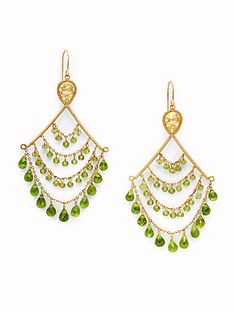 I love these earrings with a played down outfit it adds some andara peridot chandelier earrings mozeypictures Choice Image