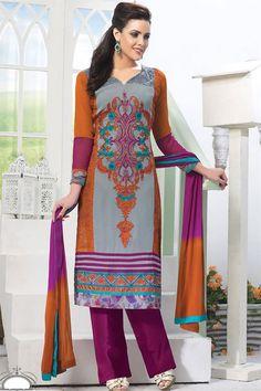 Glamorous Georgette Designer Salwar Kameez
