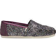 TOMS Exclusive Pewter Party Glitter