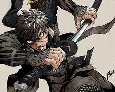 Fantasy Characters, Anime Characters, Character Concept, Character Art, Poses Manga, Touken Ranbu Characters, Bloodborne Art, Samurai Artwork, Ninja Art