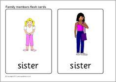 Family members flash cards (SB9287) - SparkleBox