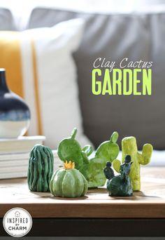 DIY Clay Cactus Garden
