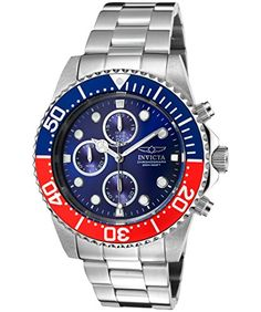 Men's Wrist Watches - Invicta Mens 1771 Pro Diver Collection Stainless Steel Chronograph Watch -- To view further for this item, visit the image link.