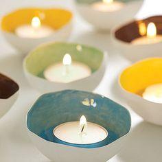 Ceramic Tea Light Shell by Sinead O Moore Ceramics